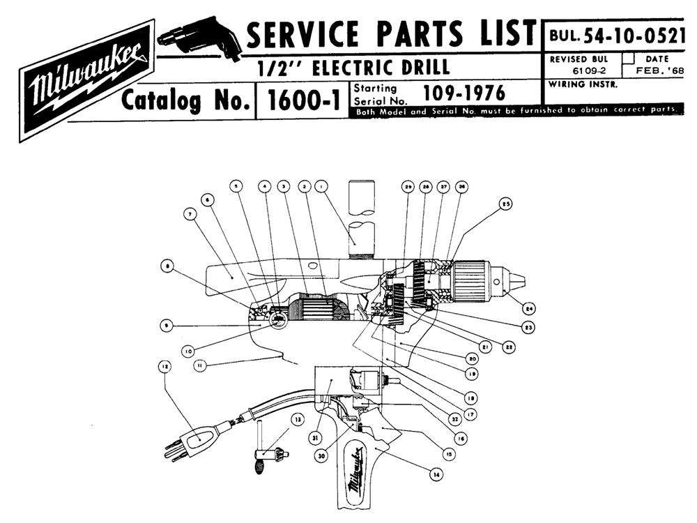 Buy Milwaukee 1600-1-(109-1976) 1/2