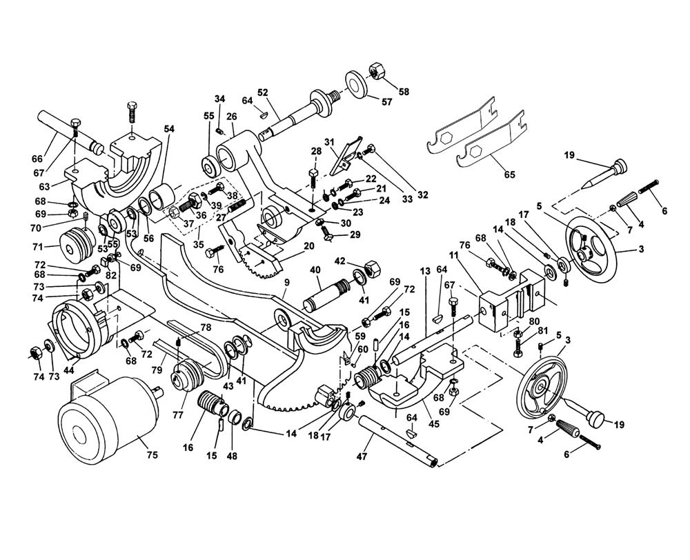 Buy Powermatic 1660805K Model 66, 5HP, 1Ph, 230V, Table