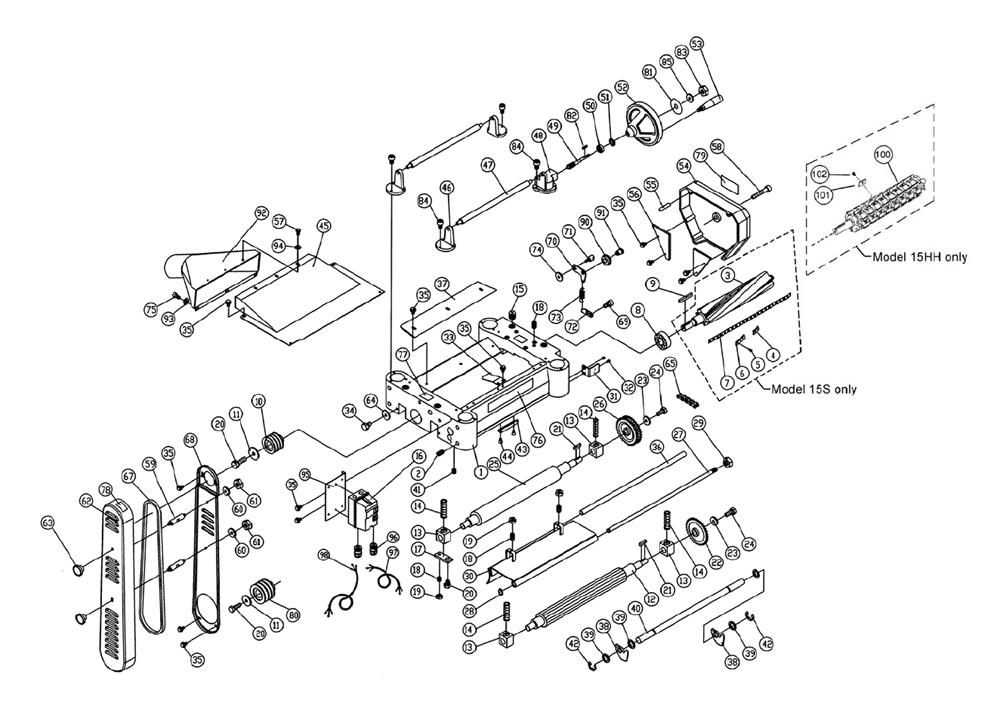 Powermatic 15hh Planer Parts