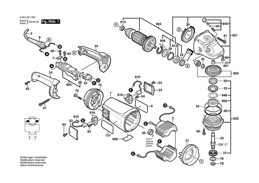Replacement Tool Parts Bosch 1812psd Electric Grinder Parts Diagram
