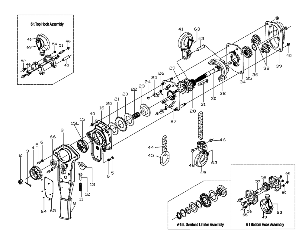 5 Ton Chain Fall Hoist. Diagrams. Wiring Diagram Images