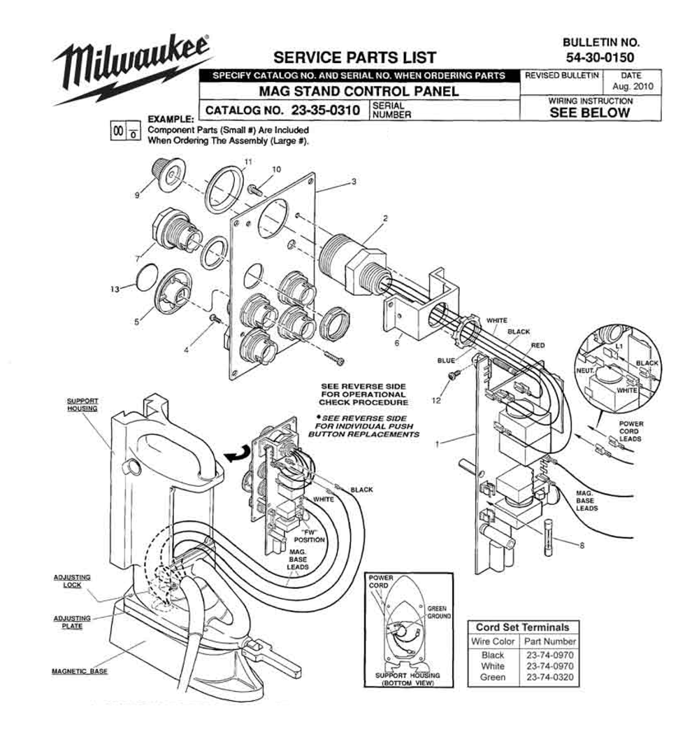 Buy Milwaukee 23-35-0310 mag stand control panel