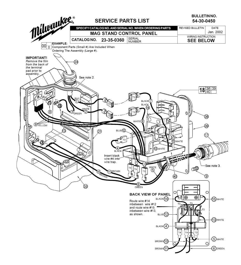 medium resolution of milwaukee 23 35 0360 parts schematic