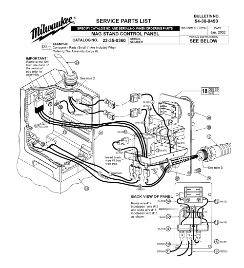 small resolution of milwaukee 23 35 0360 parts schematic