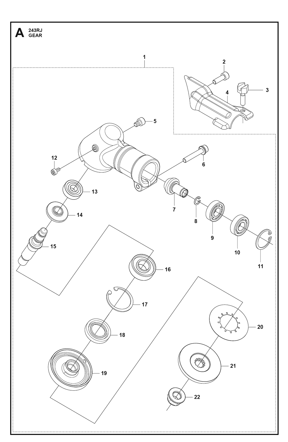 hight resolution of husqvarna 243 rj 25 parts schematic