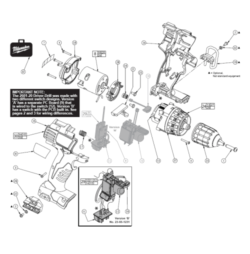 small resolution of milwaukee 2601 20 parts schematic