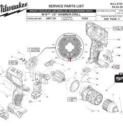 milwaukee 2607 22 f25a parts schematic [ 1000 x 954 Pixel ]