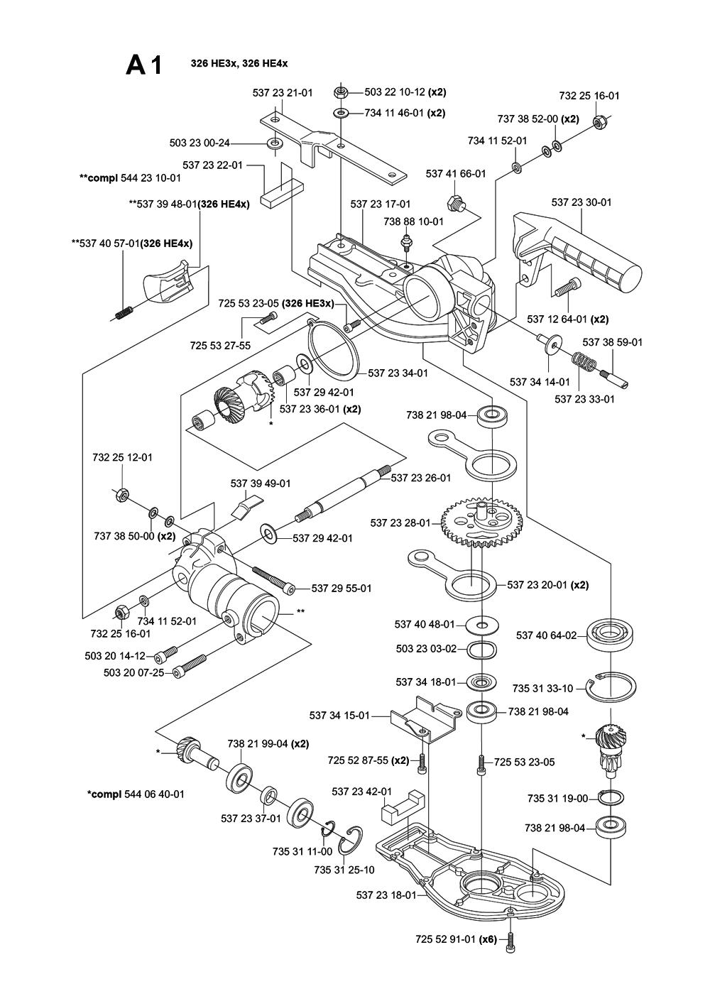 Buy Husqvarna 326 HE3X-(31) Replacement Tool Parts