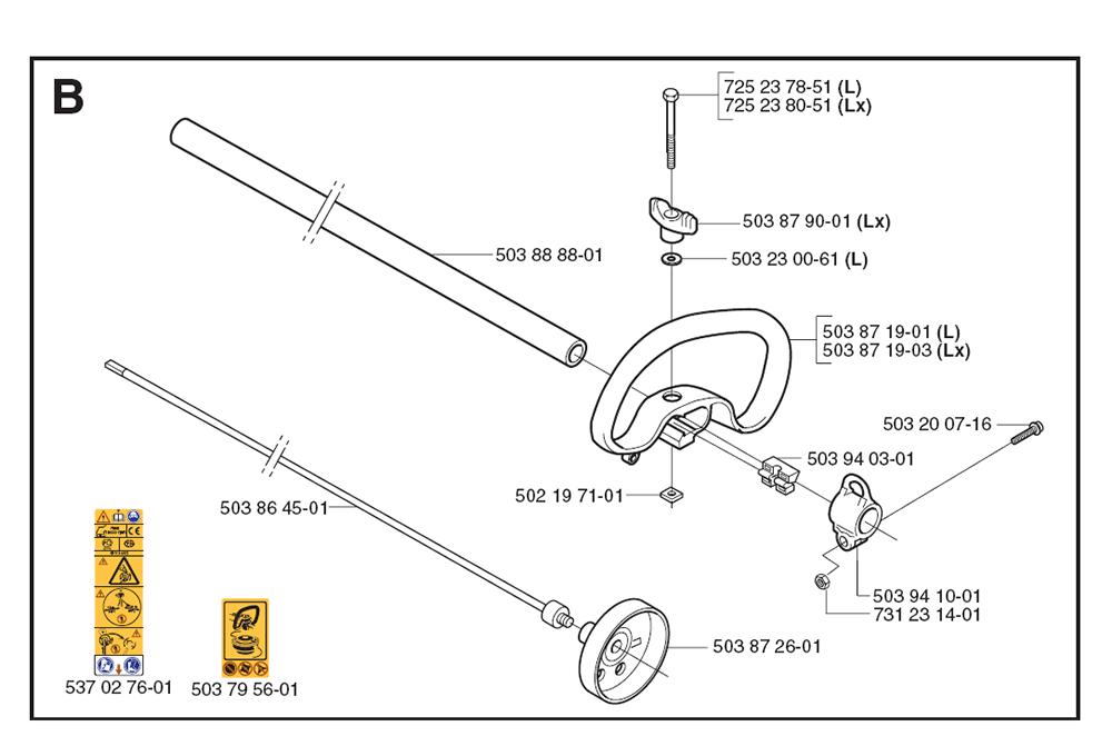 Buy Husqvarna 326 L-(1062954-61) Replacement Tool Parts