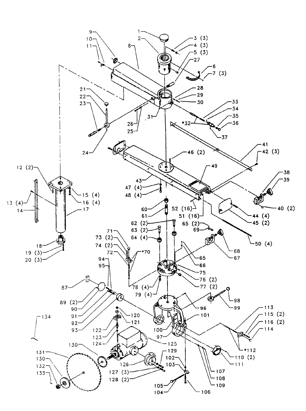 Buy Delta 33-420 Type-1 5 HP, 18 Inch Radial Arm (230