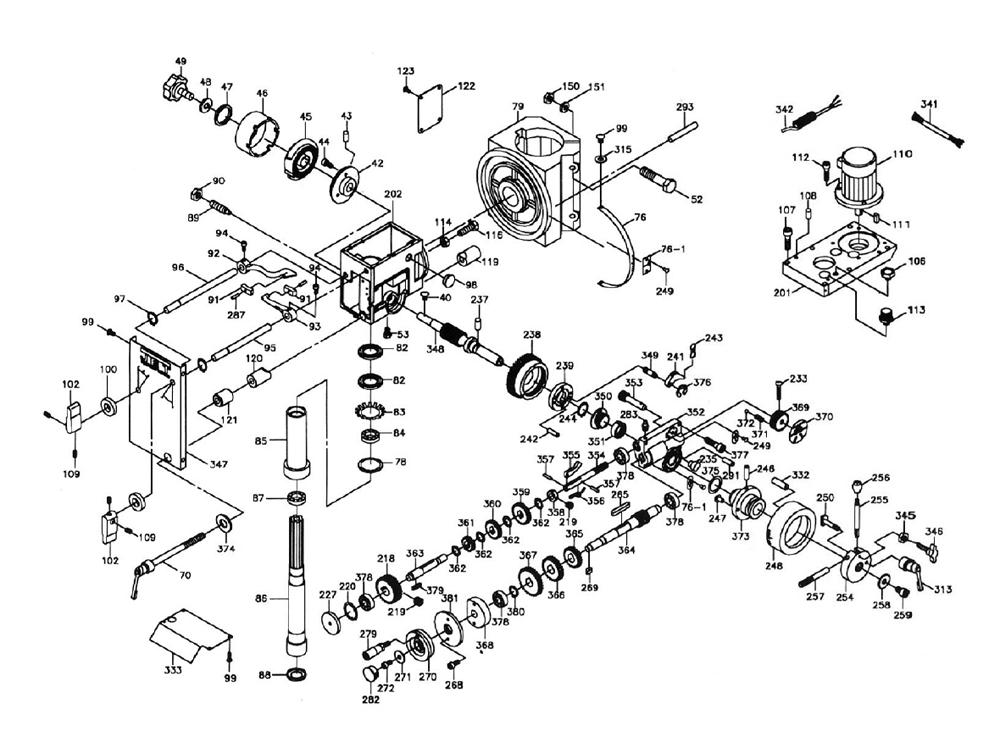 Drill Press Schematic Diagram