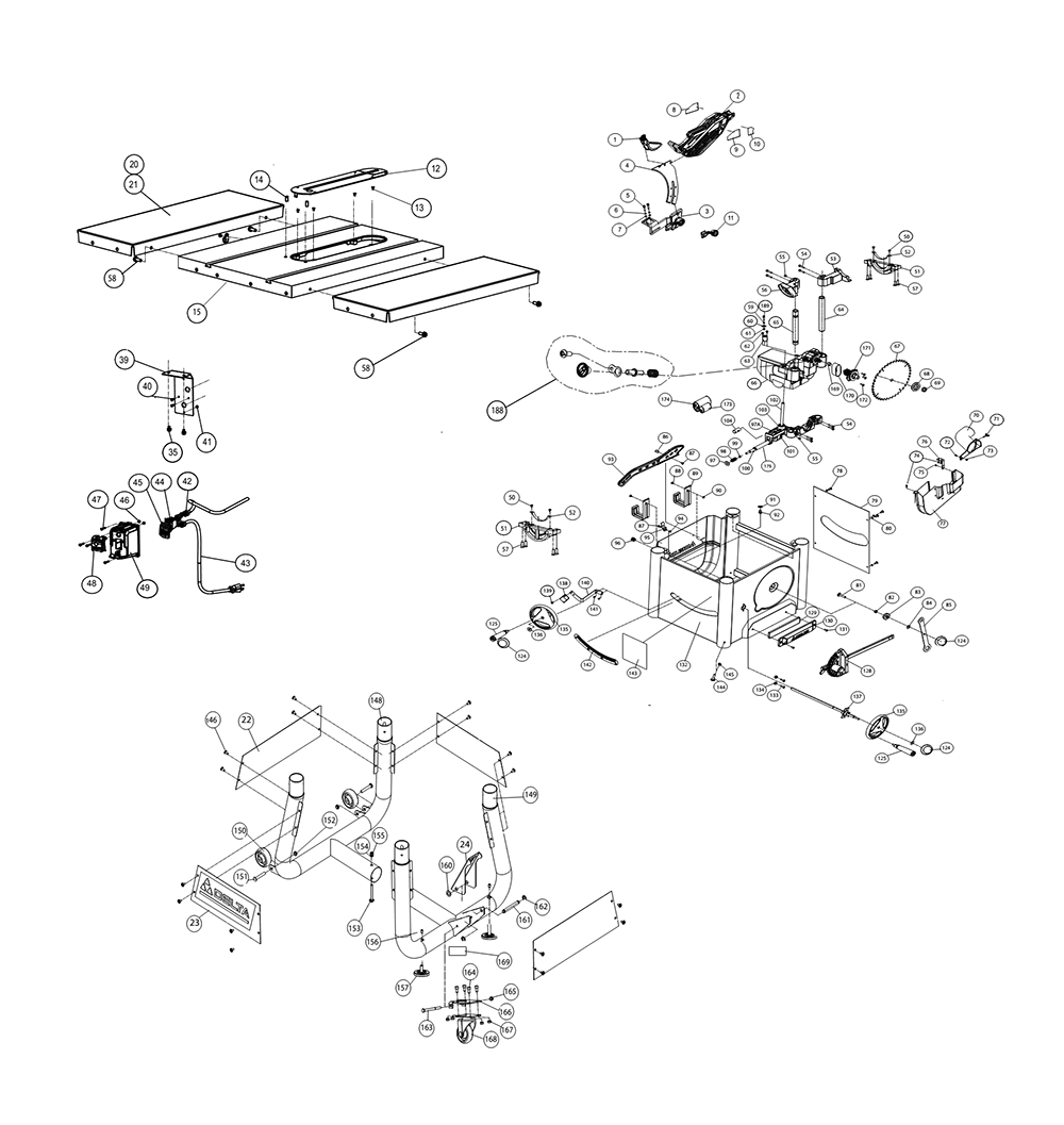 Buy Delta 36-5100 10 Inch Left Tilt Table 30 Inch Rip