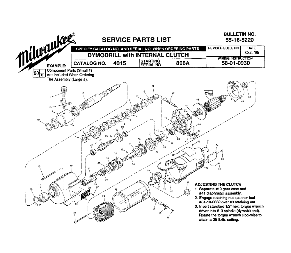 Buy Milwaukee 4015-(866A) Replacement Tool Parts