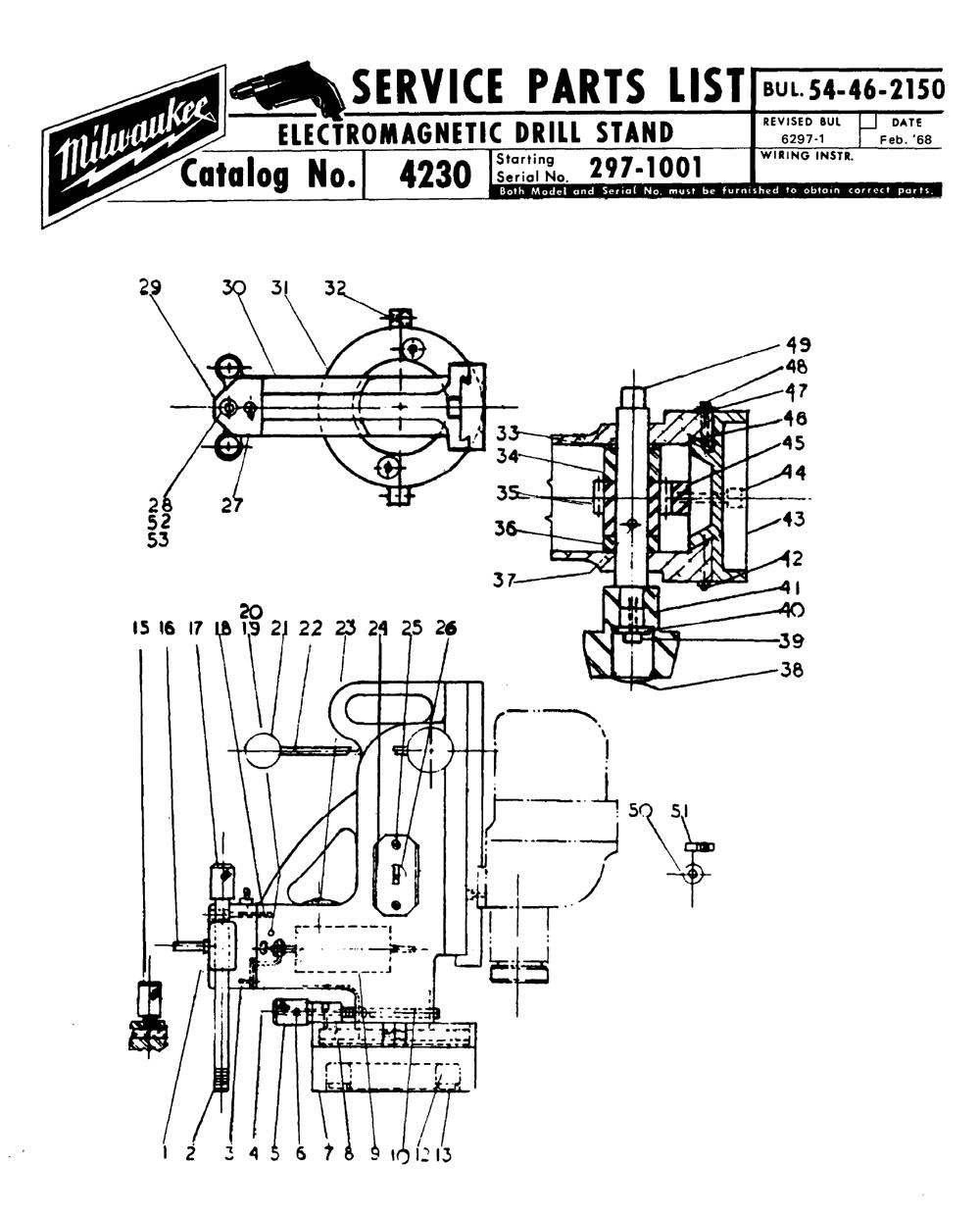 Buy Milwaukee 4230-(297-1001) electromagneticstand