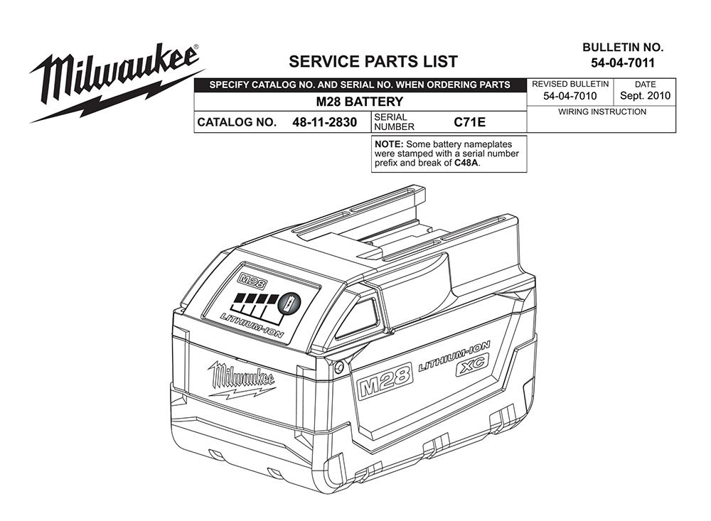 Buy Milwaukee 48-11-2830-(C71E) M28 REDLITHIUM™ Battery