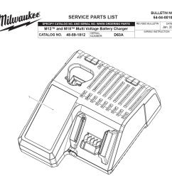 buy milwaukee 48 59 1812 d63a m18 m12 multi voltage charger milwaukee m12 charger wiring diagram [ 1000 x 882 Pixel ]