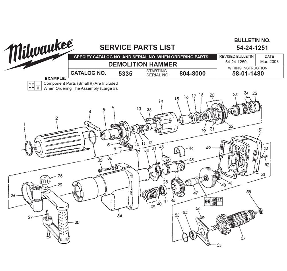 Buy Milwaukee 5335-(804-8000) demolition Replacement Tool