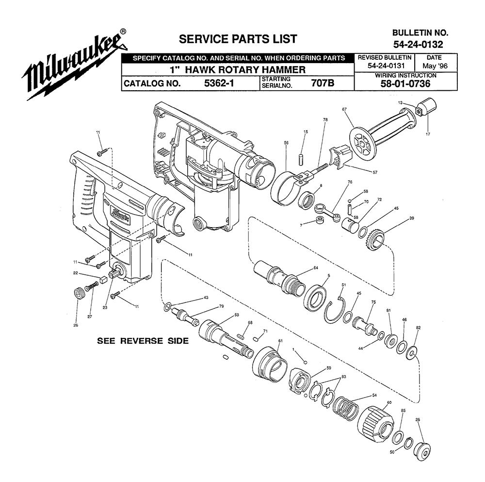 Buy Milwaukee 5362-1-(707B) 1