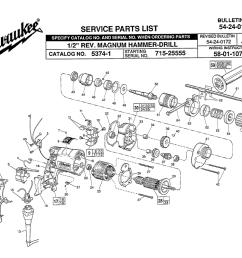 milwaukee 5374 1 715 25555 parts schematic [ 1000 x 802 Pixel ]