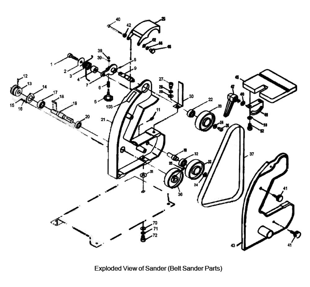 Buy Jet 577003 J-4002 1 x 42 Bench Belt & Disc Replacement