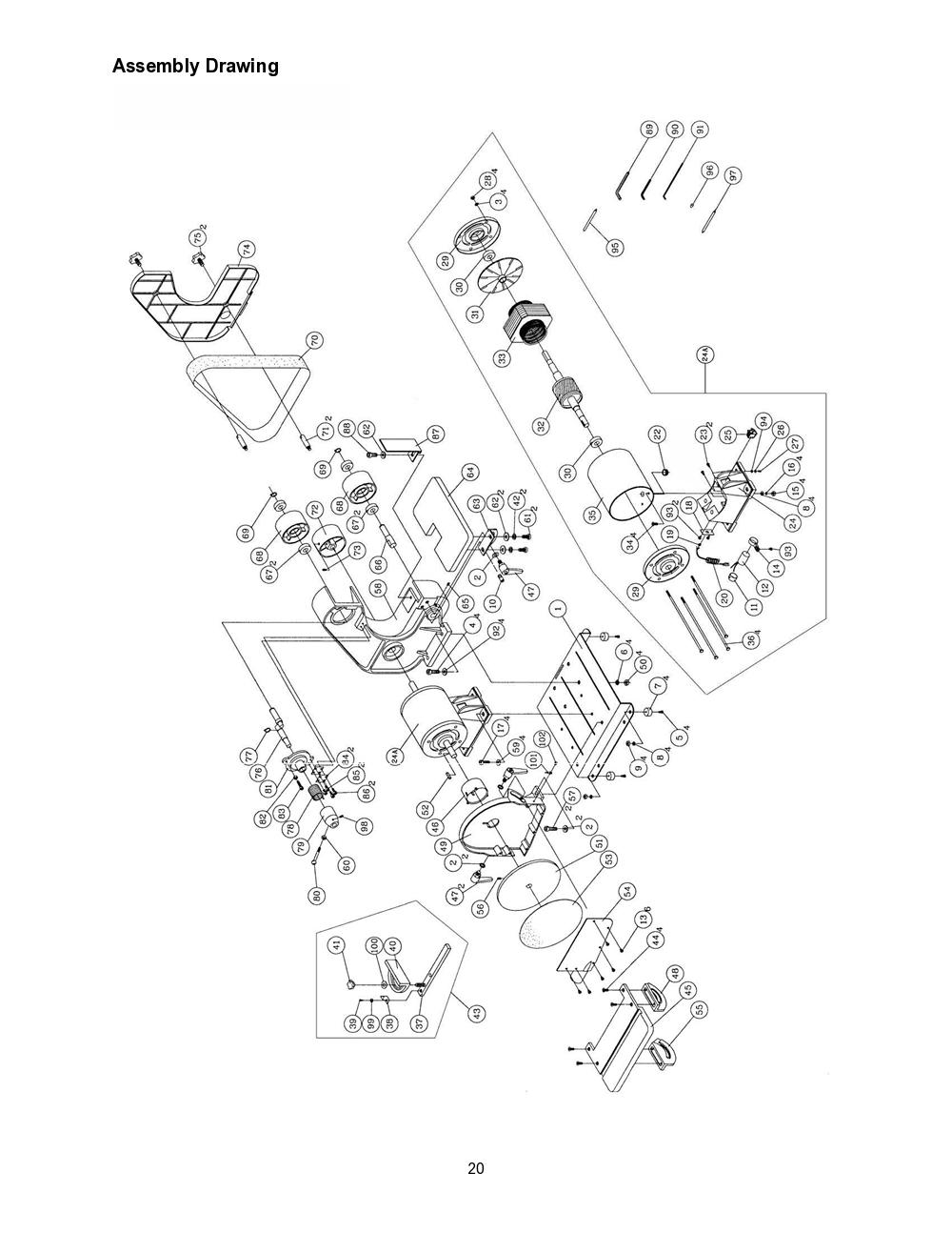 Wilton Bench Grinder 8 Inch Wiring Diagram