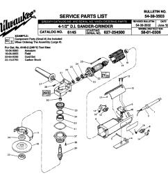 milwaukee 6145 627 254500 parts schematic [ 1000 x 957 Pixel ]