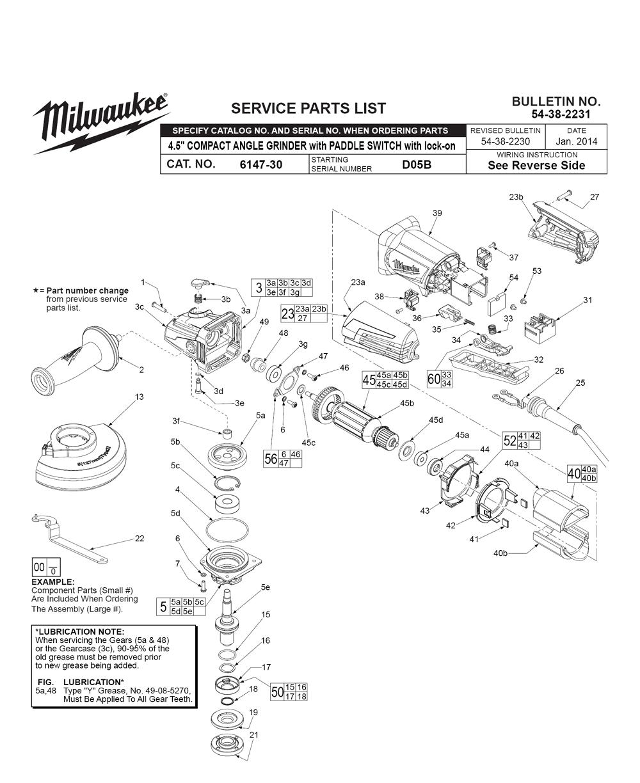 Buy Milwaukee 6147-30-(D05B) 11 Amp 4-1/2 Inch Small Angle