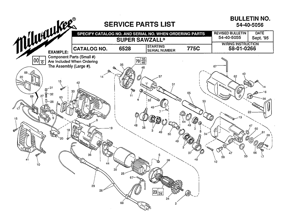 Buy Milwaukee 6528-(775C) Replacement Tool Parts
