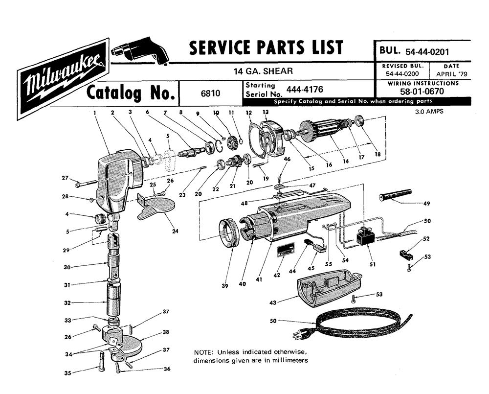 Buy Milwaukee 6810-(444-4176) 14 gauge shear Replacement