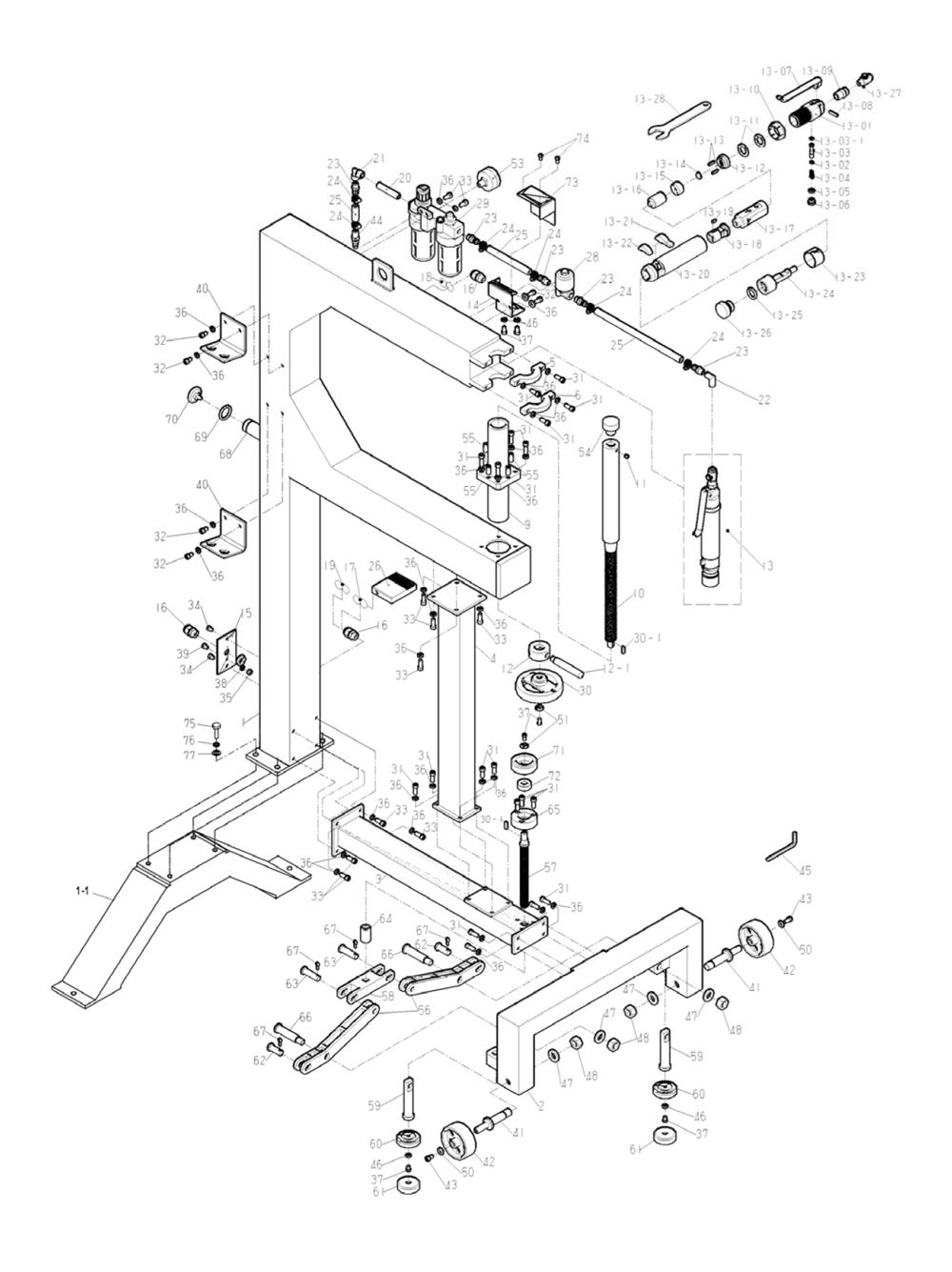 Buy Jet 756121 PH-24T 24 Inch Planishing Hammer