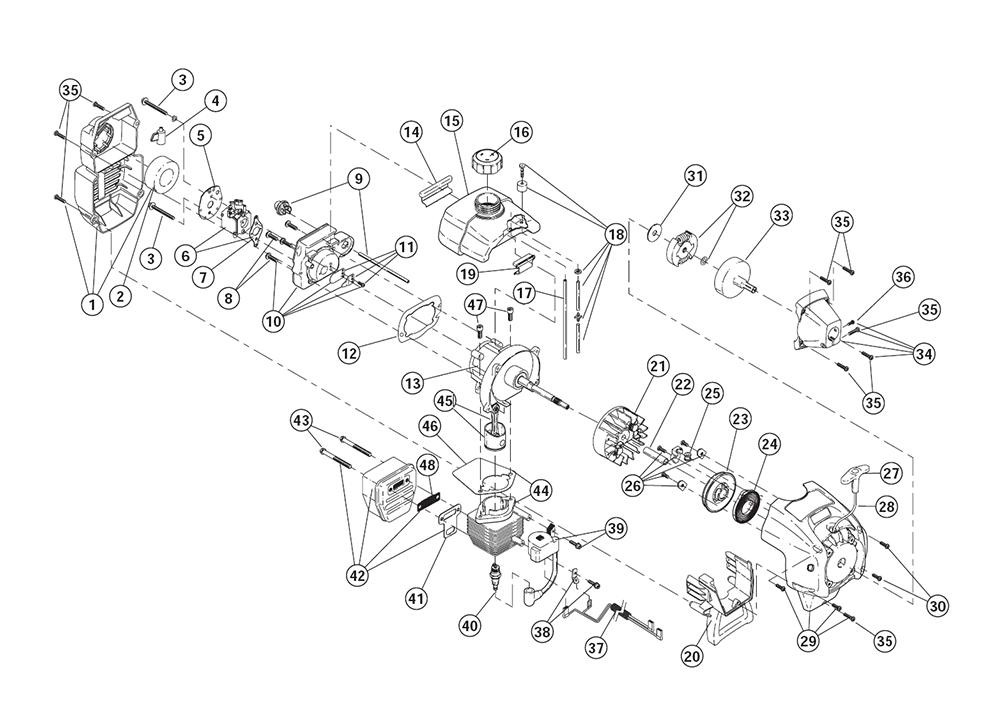 Buy Ryobi 780R (41FD780G034) Replacement Tool Parts