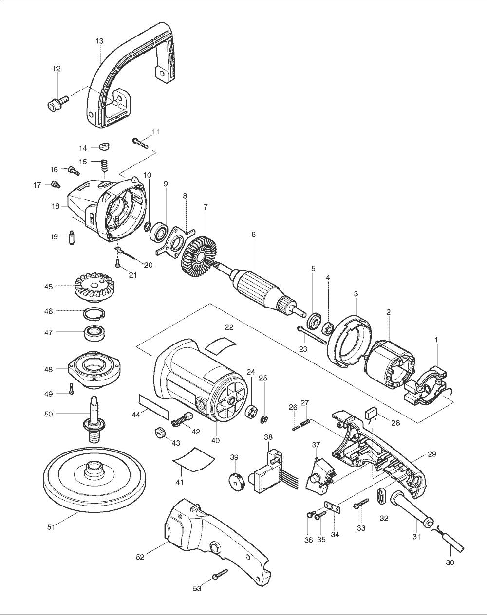 medium resolution of makita 9227c parts schematic