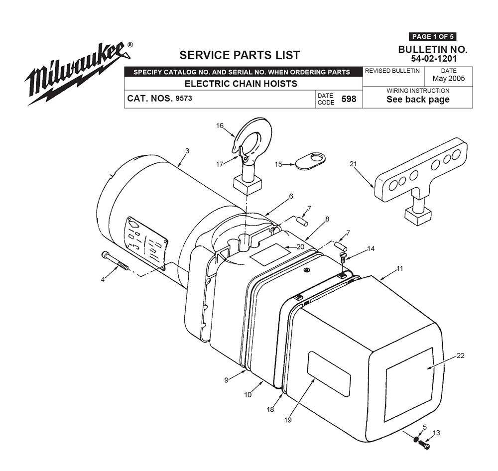 Buy Milwaukee 9573-(598) Replacement Tool Parts