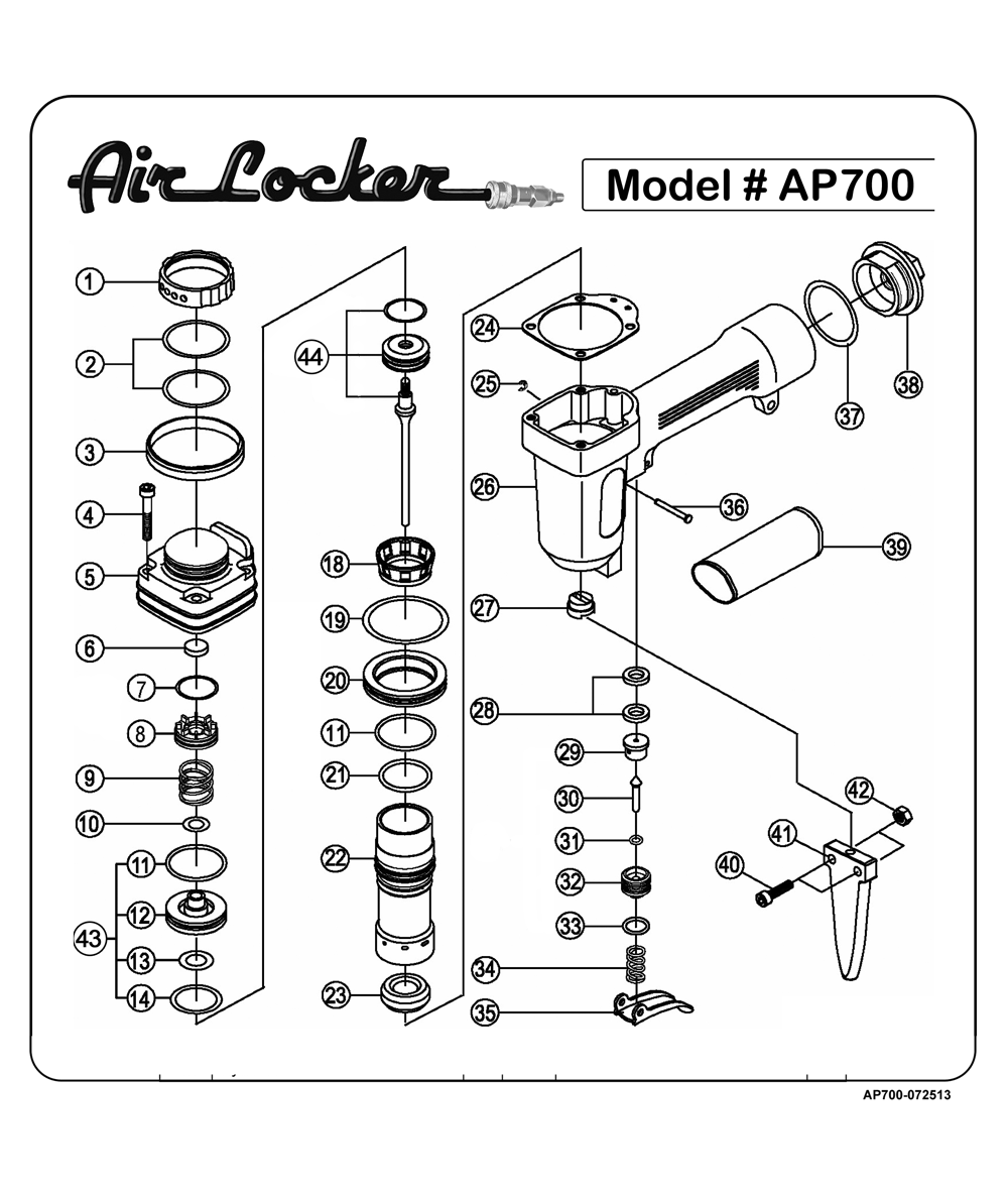 Buy Air Locker AP700 Heavy Duty Professional Punch / Nail