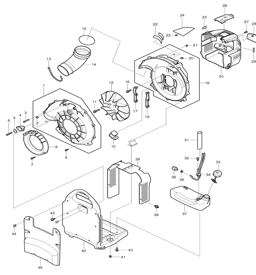 hight resolution of buy makita bbx7600 commercial grade 75 6cc 4 stroke gas powered 195 ac blower motor wiring makita blower wiring diagram