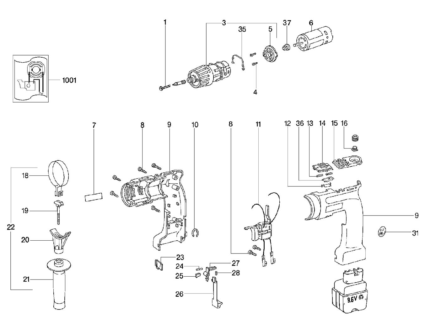 Buy Metabo Beat Rl Replacement Tool Parts
