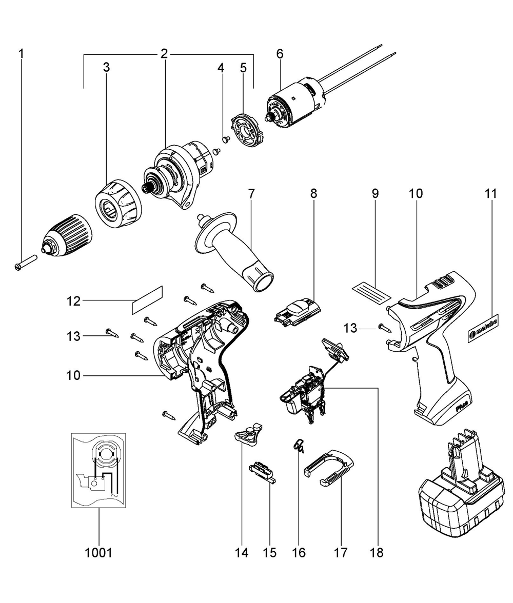 Buy Metabo BSP12Plus-(02419420) Replacement Tool Parts