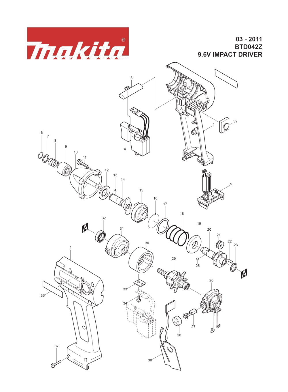 Buy Makita BTD042Z 9.6 V Vari-Torque Impact Driver