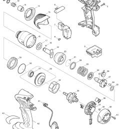 makita btd142 parts schematic [ 850 x 1218 Pixel ]