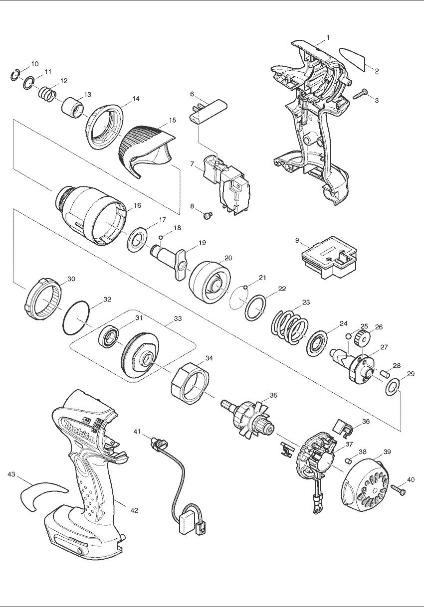 hight resolution of makita btd142 parts schematic