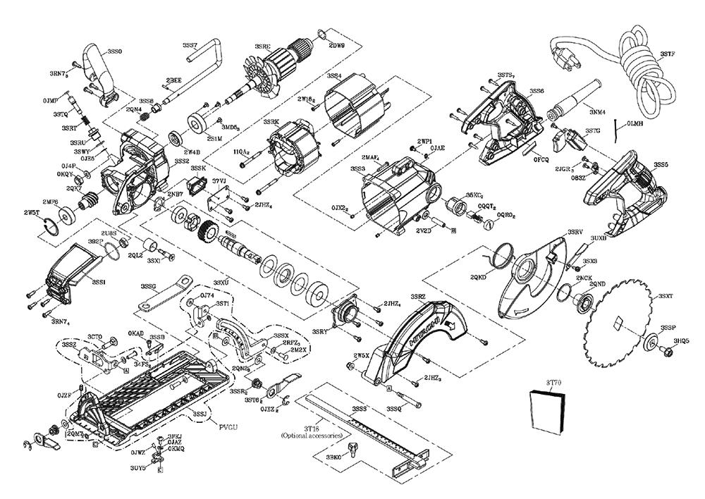 Buy Hitachi C7WDM CIRCULAR SAW Replacement Tool Parts