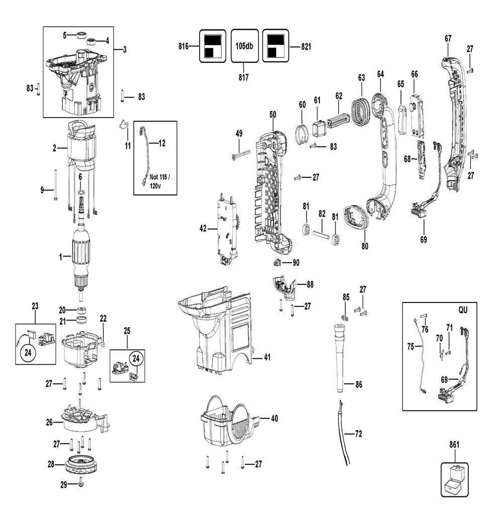 Buy Dewalt D25601K-B3 Type-1 1-3/4 Inch SDS Max