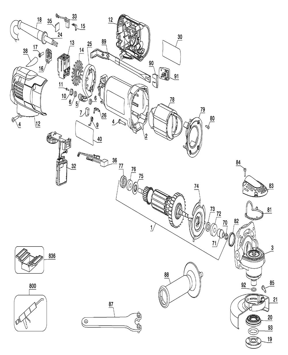 Buy Dewalt D28136-B2 Type-1 Replacement Tool Parts
