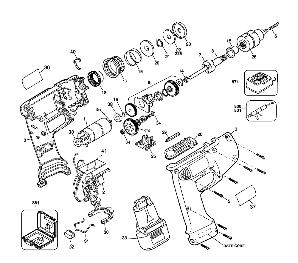 medium resolution of buy dewalt d945k 04 type 1 replacement tool parts dewalt d945k 04dewalt d945k 04 type 1