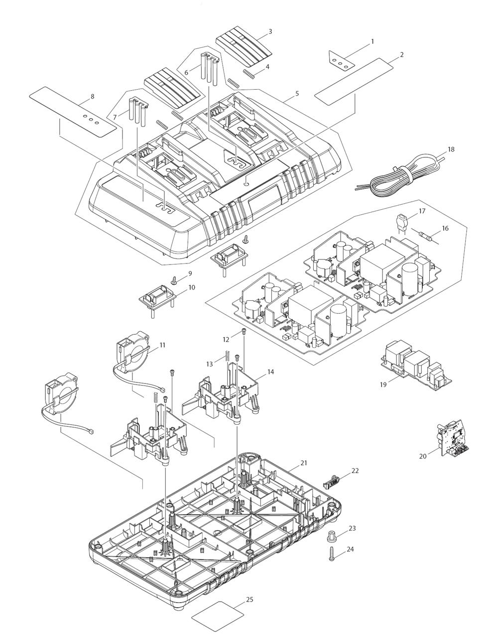 medium resolution of makita dc18rd type 2 parts schematic