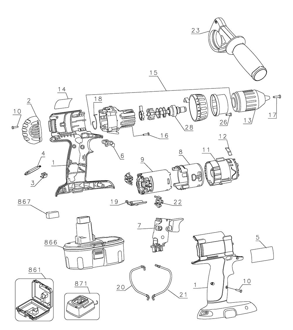 medium resolution of dewalt 18v drill diagram data diagram schematic dewalt 18v diagram wiring diagram mega dewalt 18v drill