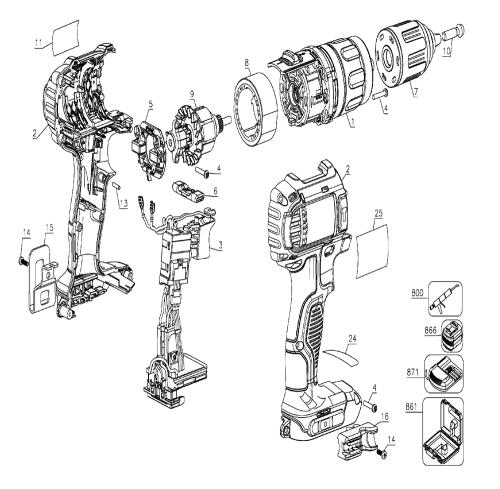 small resolution of dewalt drill diagram wiring diagram dewalt drill diagram buy dewalt dcd780b type 1 20v max lithium