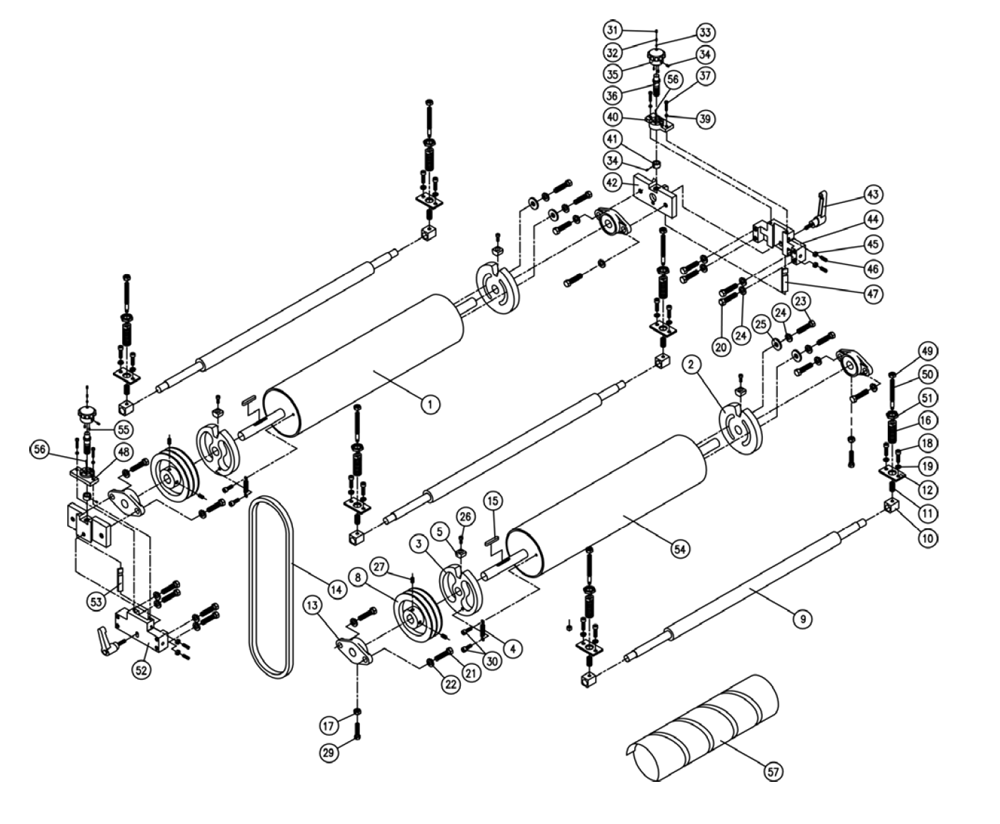 Buy Powermatic DDS-225 Drum Sander Replacement Tool Parts