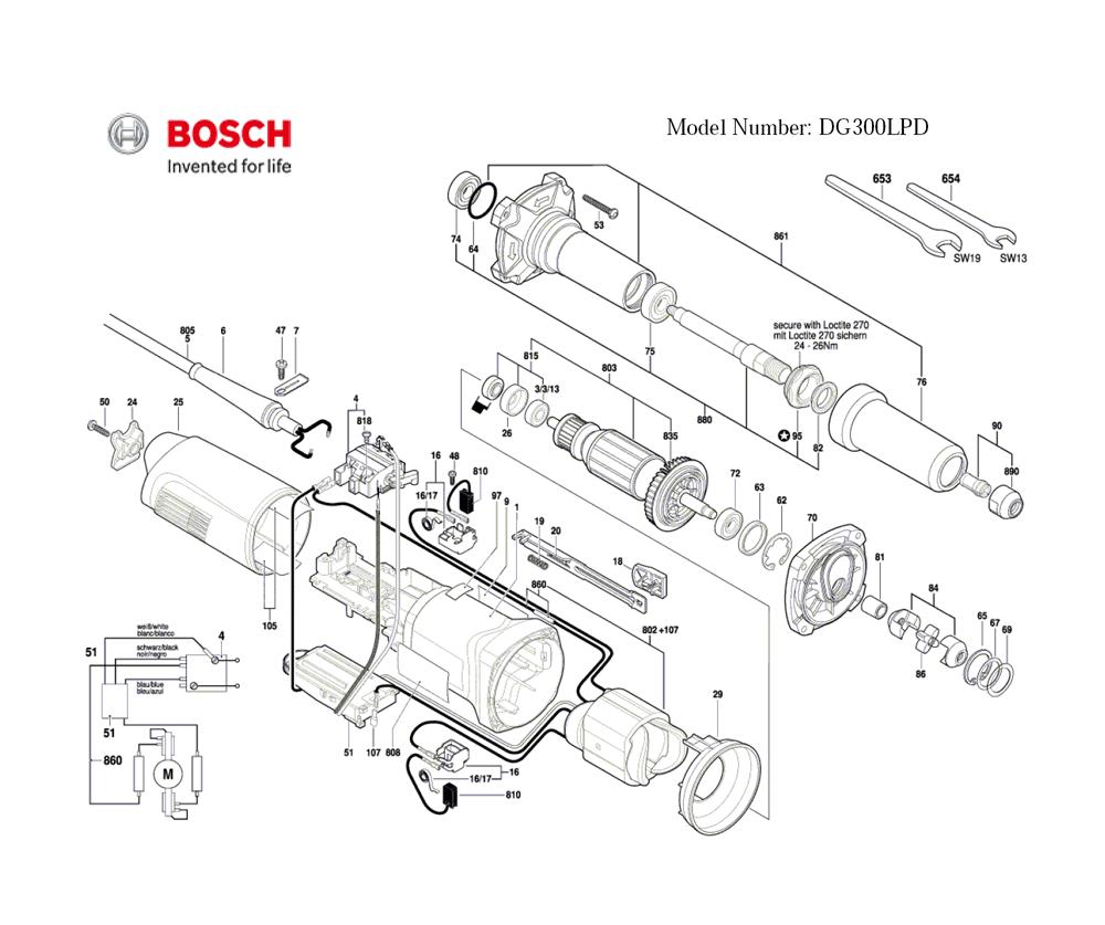Buy Bosch DG300LPD-(3601B21110) Paddle Switch Die
