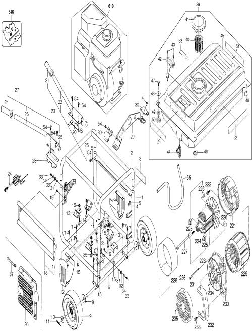 small resolution of buy dewalt dg6000 heavy duty 6000 watt gas generator replacement honda em3500sx generator parts de walt dg6000 generator wiring diagram
